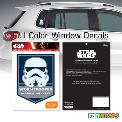 Stormtrooper Imperial Infantry Badge Window Decal